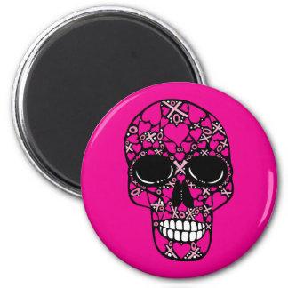 XOXO Forever - Skull Magnet on Pink