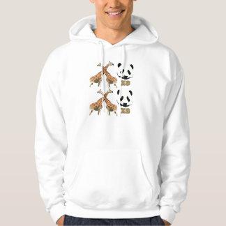 XOXO giraffe Panda Basic Hooded Sweatshirt