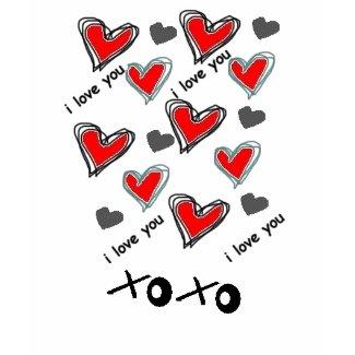 xoxo HEART DESIGN shirt