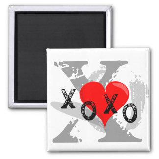 XOXO Heart Hugs and Kisses Refrigerator Magnet