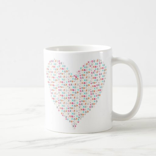 xoxo heart mug