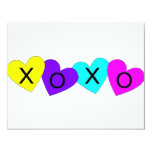 XOXO Hearts 4.25x5.5 Paper Invitation Card