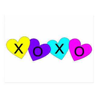 XOXO Hearts Postcard