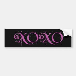 XOXO - Hugs and Kisses Bumper Sticker