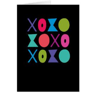 XOXO Hugs and Kisses Modern Love Card