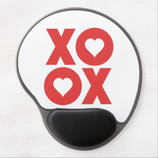 XOXO Hugs and Kisses Valentine's Day Gel Mouse Pad