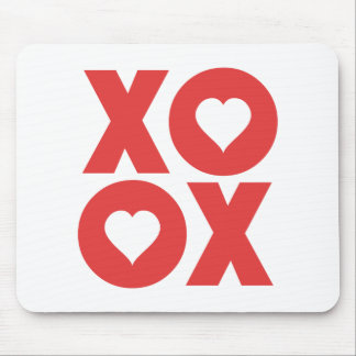 XOXO Hugs and Kisses Valentine's Day Mouse Pad