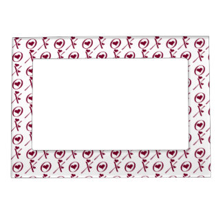 XOXO Hugs and Kisses Valentine's Day Picture Frame Picture Frame Magnets