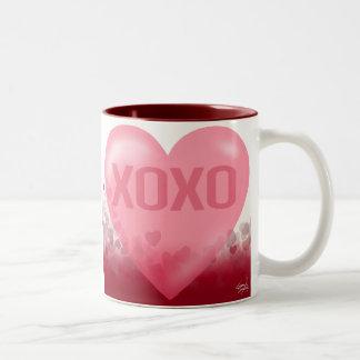 XOXO Hugs & Kisses Heart Festival Gift Coffee Mug