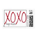 XOXO hugs & kisses stamp