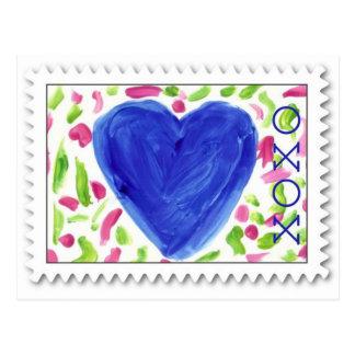 XOXO ~ Hugs & Kisses ~ Valentine Postcard