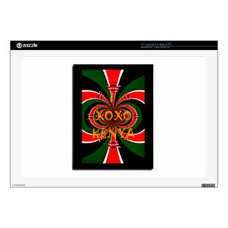XOXO I Love Kenya Black Red Green National Flag Co Laptop Decals