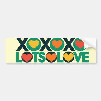 XOXO Lots of Love Bumper Sticker