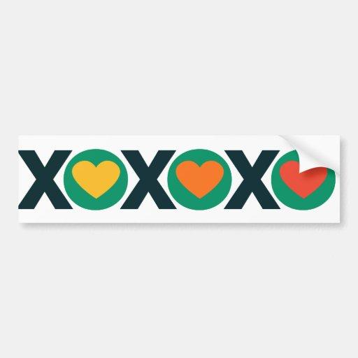 XOXO Love Bumper Stickers