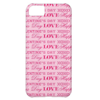 XOXO Love Happy Valentine s Day Pink Print Gifts Case For iPhone 5C