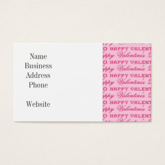 XOXO Love Happy Valentine's Day Pink Print Gifts Business Card