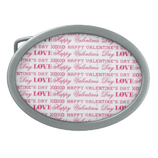 XOXO Love Happy Valentine's Day Pink Red Gifts Belt Buckle