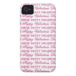 XOXO Love Happy Valentine's Day Pink Red Gifts iPhone 4 Case-Mate Cases