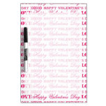 XOXO Love Happy Valentine's Day Pink Red Gifts Dry-Erase Whiteboard