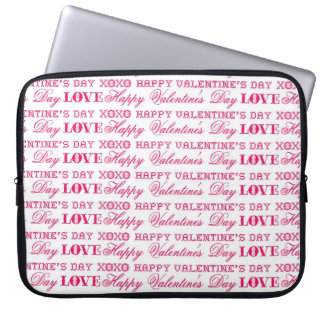 XOXO Love Happy Valentine's Day Pink Red Gifts Laptop Sleeve
