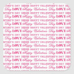 XOXO Love Happy Valentine's Day Pink Red Gifts Sticker
