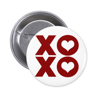 XOXO Love Valentine's Day Pinback Buttons