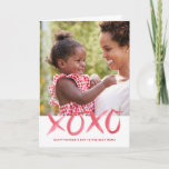 XOXO Mother's Day Photo Card for Mom