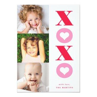 xoxo multi-photo valentine's day card