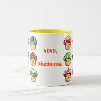 xoxo mushroom mug