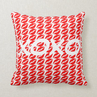 XOXO on the Lips Square Pillow
