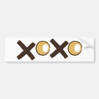 XOXO - OrangeandBrown.png Bumper Sticker
