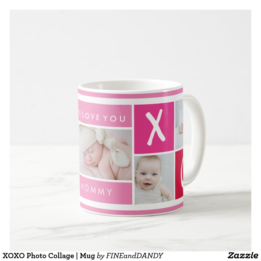 XOXO Photo Collage | Mug