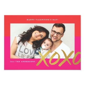 XOXO Photo Valentine's Day Card
