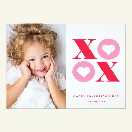 xoxo photo valentine's day card