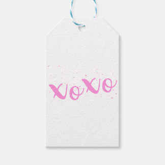 xoxo-Pink Trendy Gift Tags