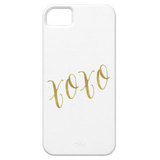 XOXO Quote Faux Gold Glitter Background Template iPhone SE/5/5s Case