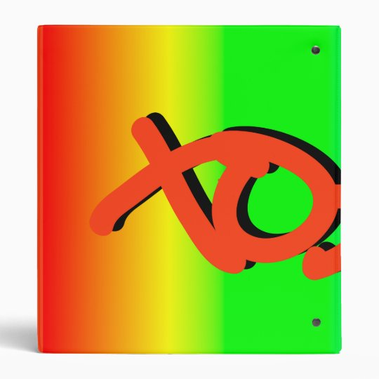 XOXO rainbow 3 Ring Binder
