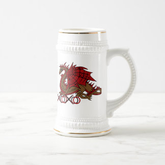 XOXO red and brown dragon Beer Stein