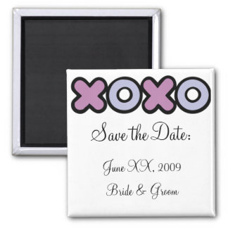 XOXO Save the Date Magnet