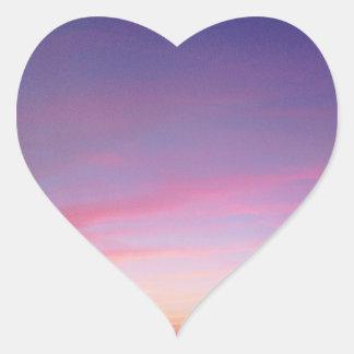 XOXO, SKY HEART STICKER