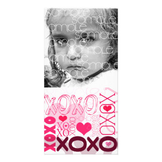 XOXO Valentine Kisses & Hugs Photo Card