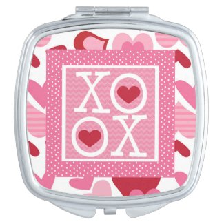 XOXO Valentine Love Gifts Mirrors For Makeup