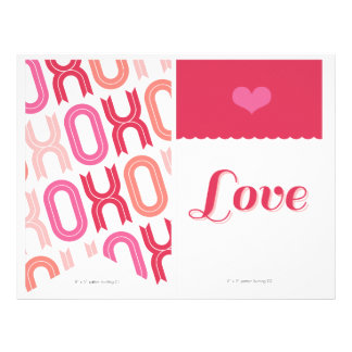XOXO Valentine Party Decor Set 02 Bunting Banner Flyer