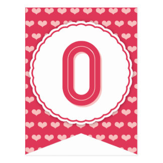 XOXO Valentine Party Flag Bunting Banner 0 Post Card