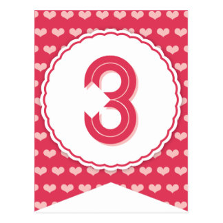 XOXO Valentine Party Flag Bunting Banner 3 Postcards