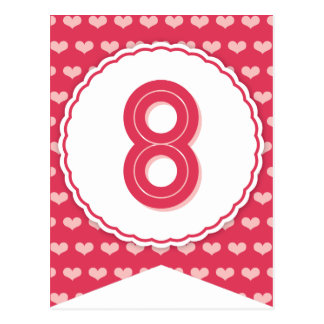 XOXO Valentine Party Flag Bunting Banner 8 Post Cards