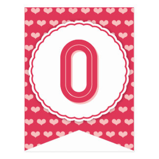 XOXO Valentine Party Flag Bunting Banner O Post Cards