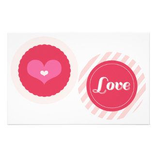 "XOXO Valentine Party Garlands 4"" Banner Set 01 Full Color Flyer"