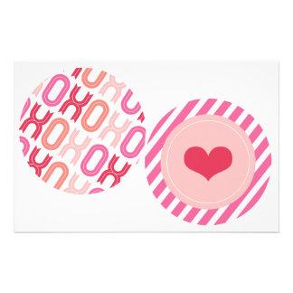 "XOXO Valentine Party Garlands 4"" Banner Set 03 Custom Flyer"