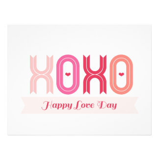 XOXO Valentine Party Sign & Garland Decor Set 03 Full Color Flyer
